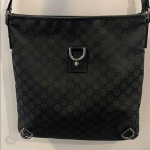 GUCCI black monogram crossbody